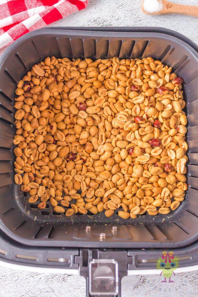 roasted nut in air fryer basket