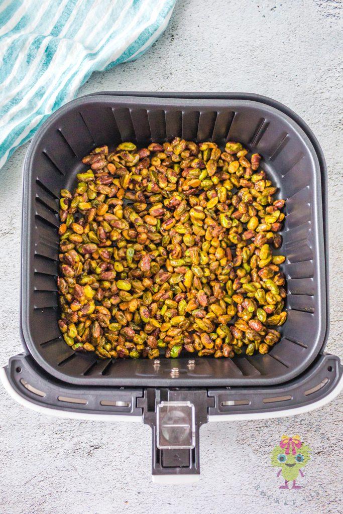 raw roasted in air fryer basket