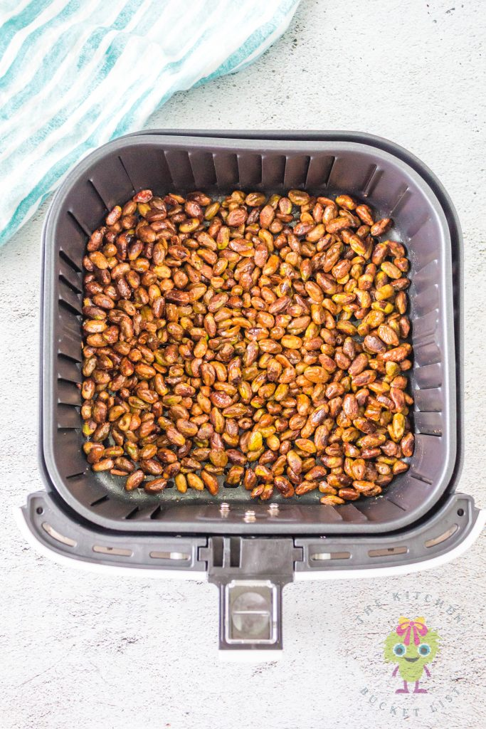 roasted pistachios in air fryer basket