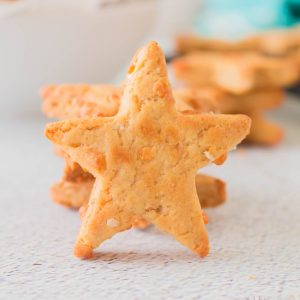 Star shape dog biscuit center and star biscuit background