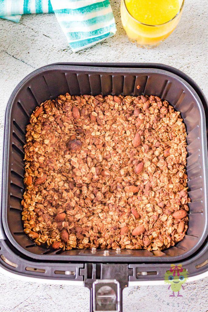 cook granola in air fryer basket