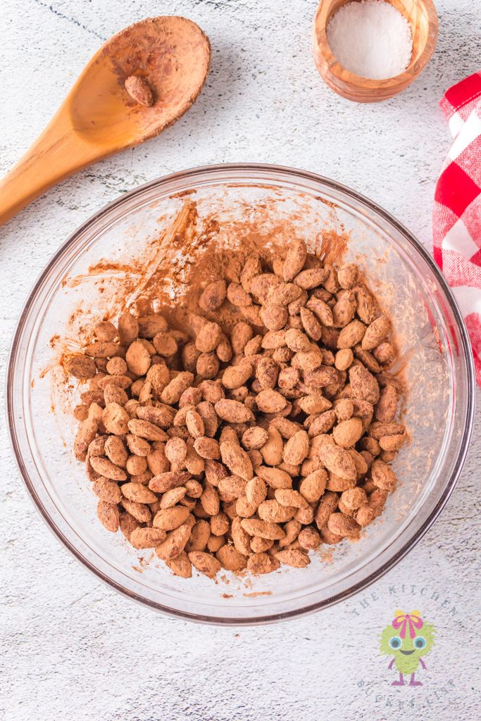 bowl of covered almonds